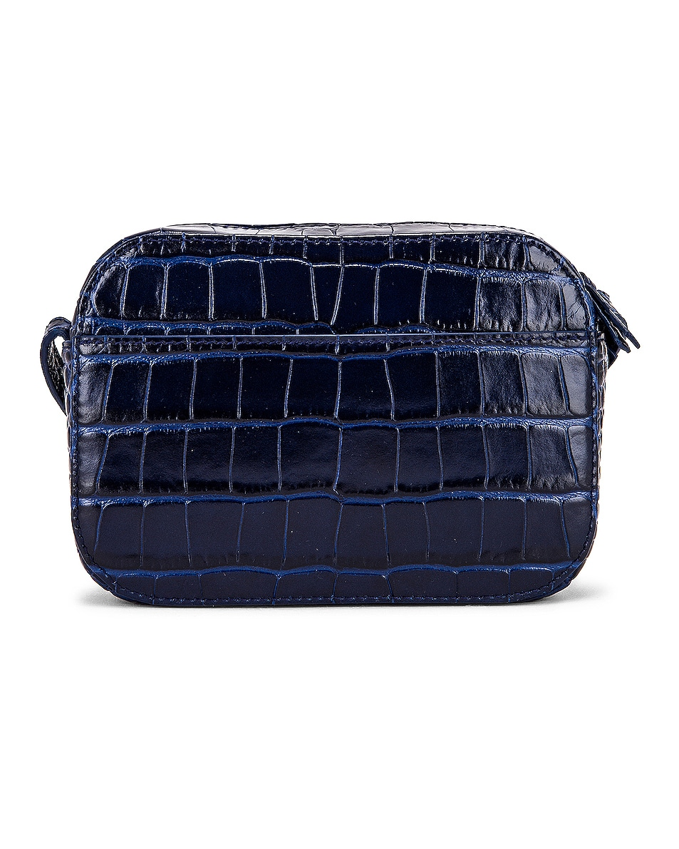 Image 3 of Balenciaga XS Embossed Croc Everyday Camera Bag in Navy