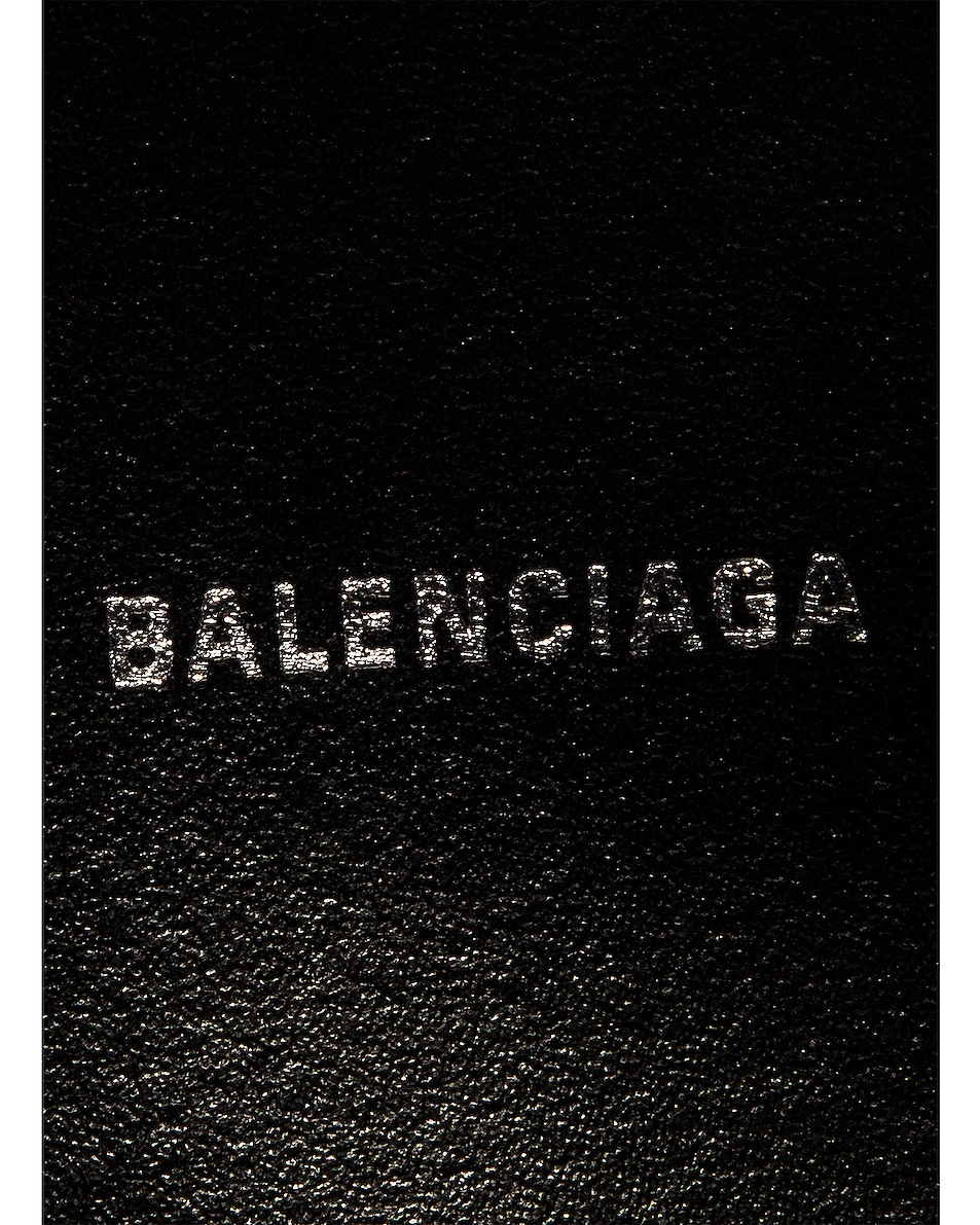 Image 7 of Balenciaga XS Embossed Croc Everyday Camera Bag in Navy
