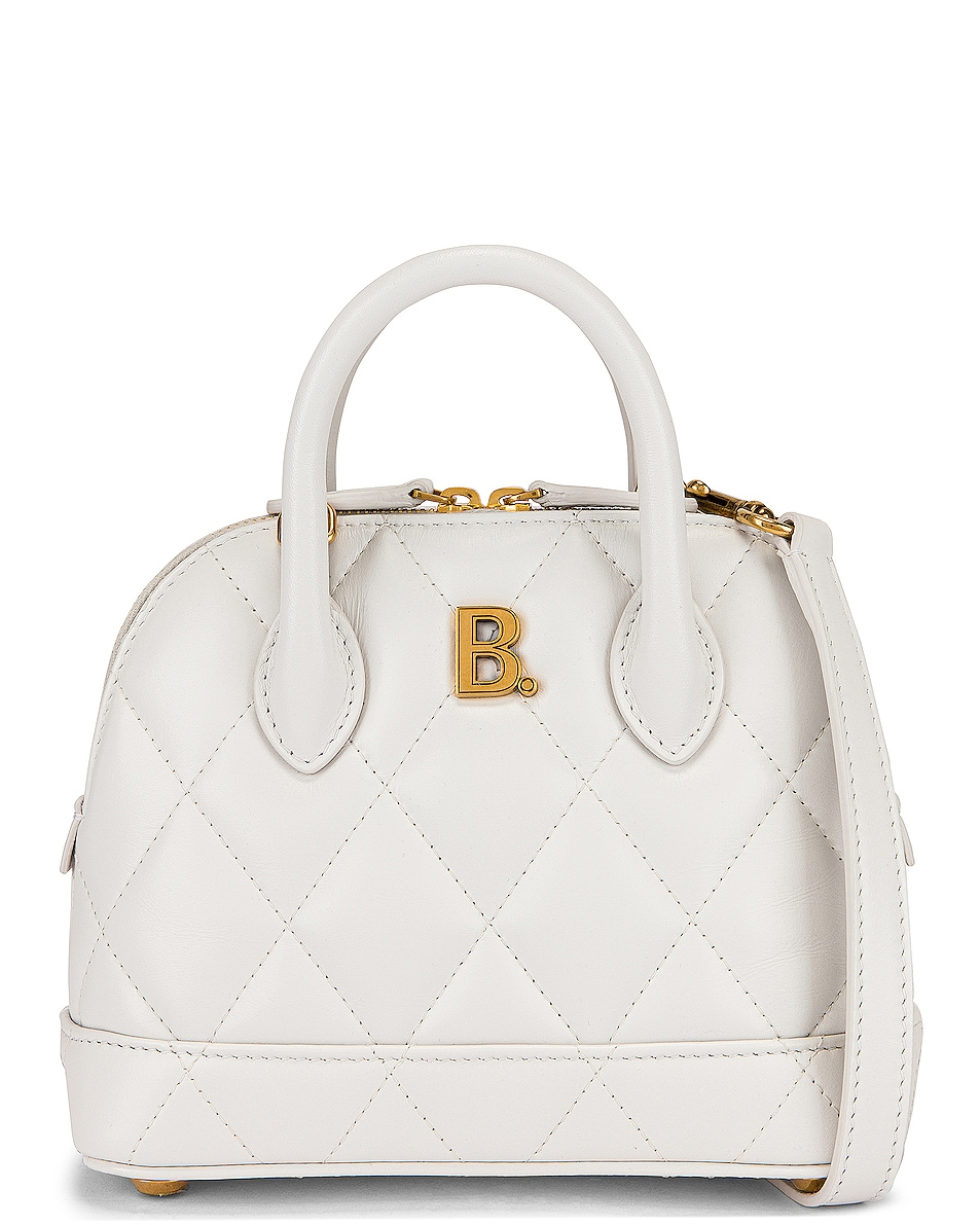 Image 1 of Balenciaga XXS Quilted Leather Ville Top Handle Bag in White