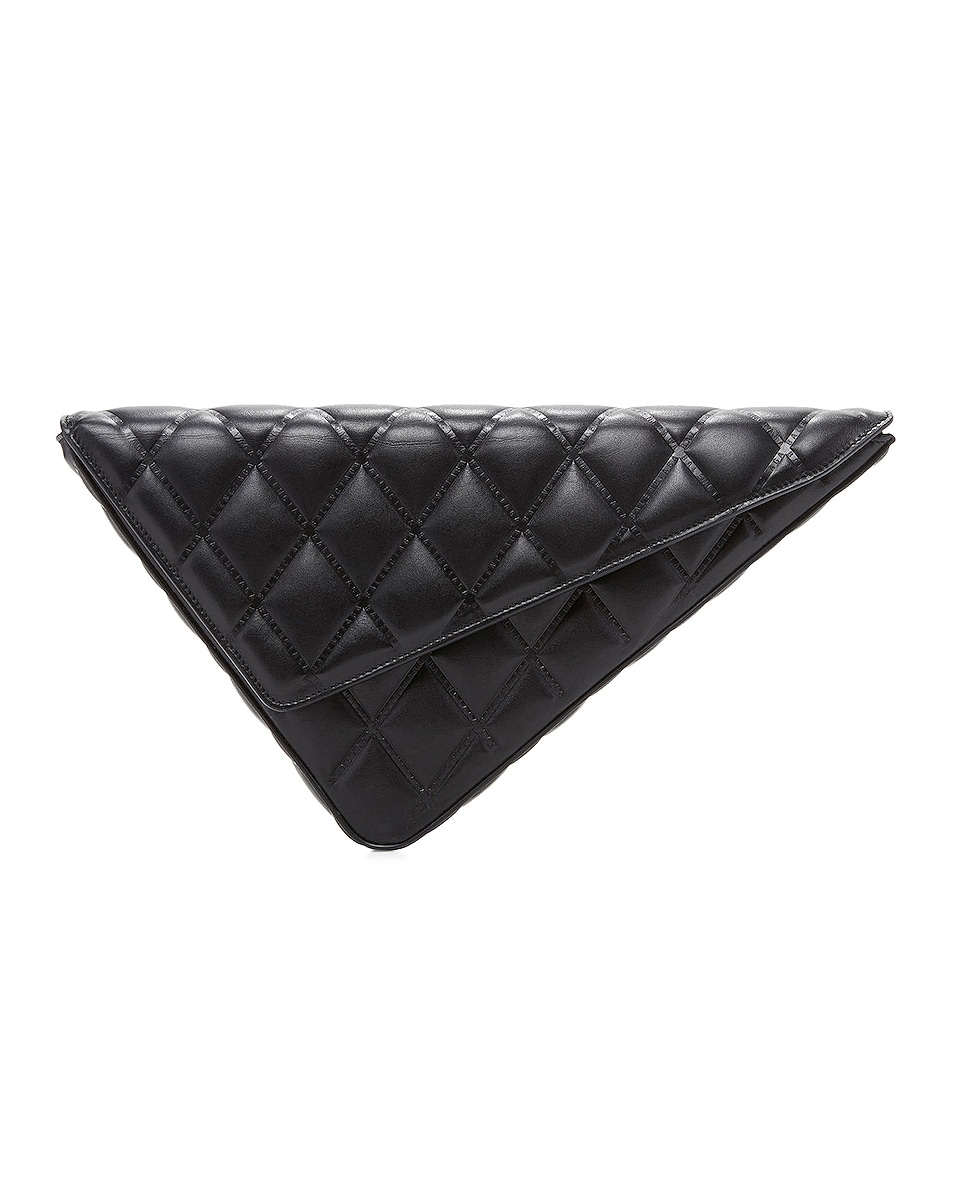 Image 1 of Balenciaga Triangle Clutch with Strap in Black