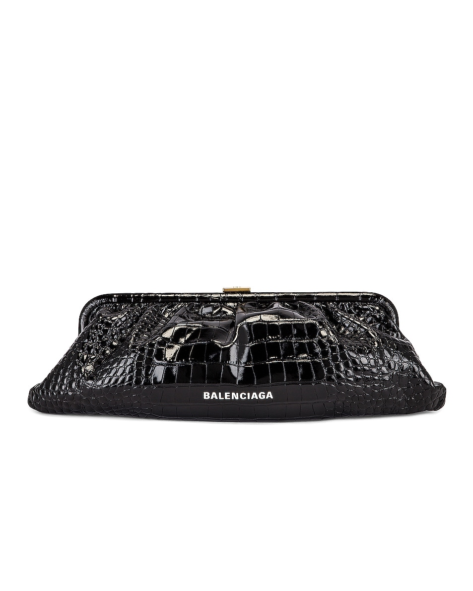 Image 1 of Balenciaga XL Cloud Clutch in Black