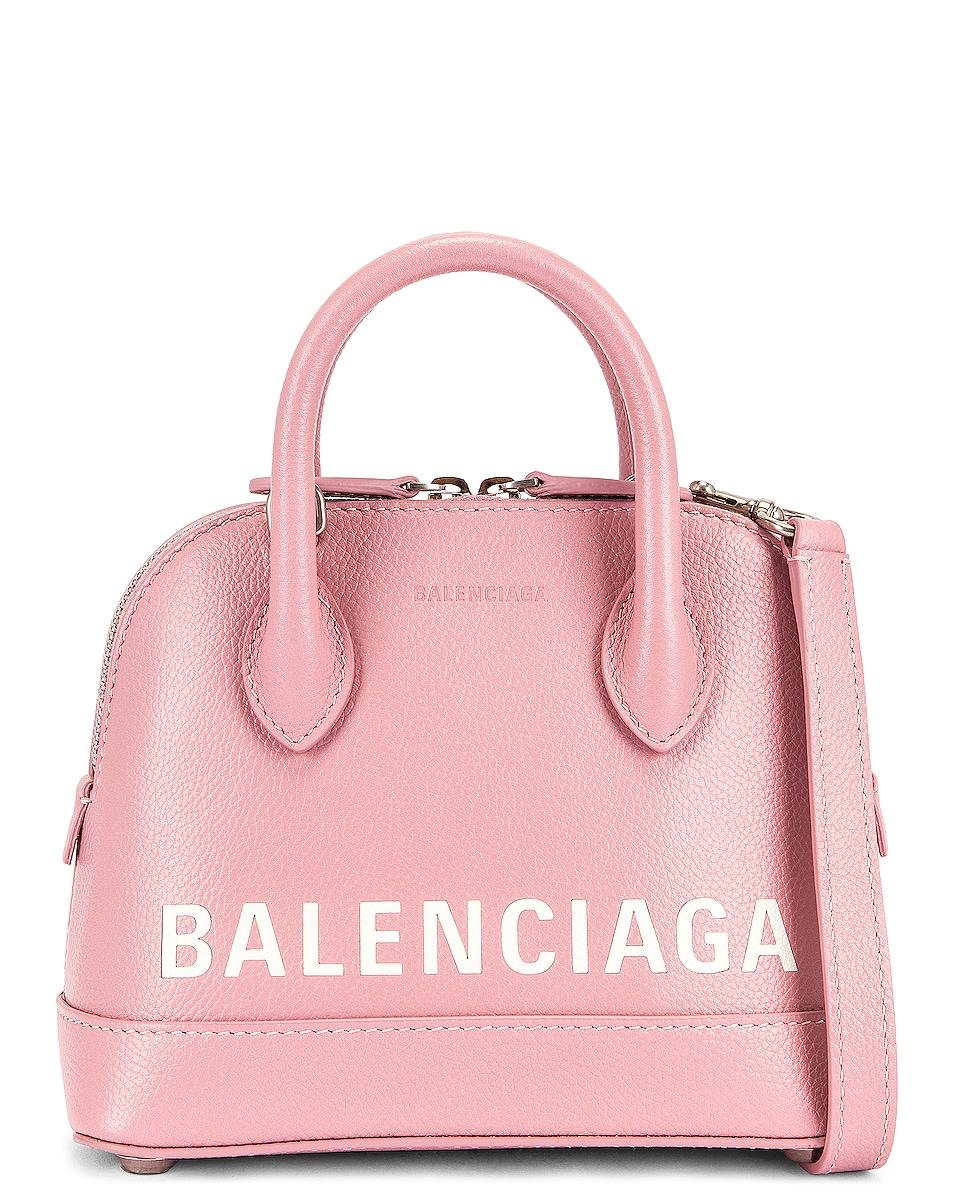 Image 1 of Balenciaga XXS Ville Top Handle Bag in Dragee & White