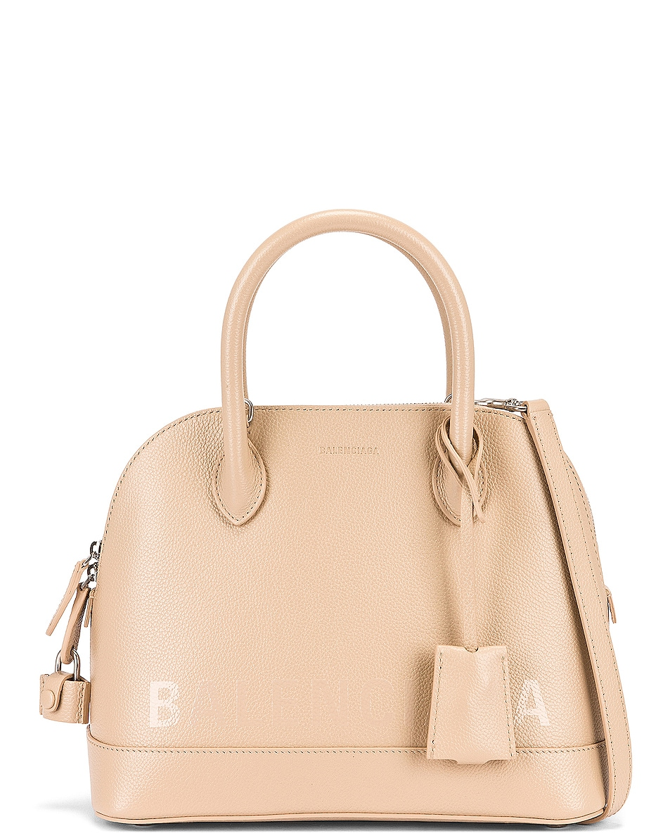 Image 1 of Balenciaga Small Ville Top Handle Bag in Light Beige