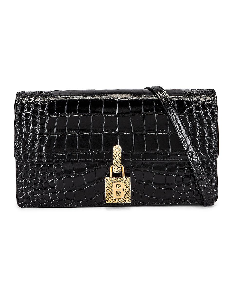 Image 1 of Balenciaga Medium Lock Crossbody Bag in Black