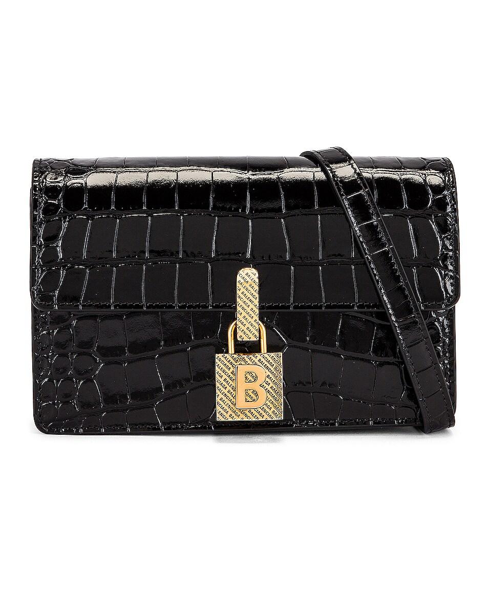 Image 1 of Balenciaga Small Lock Crossbody Bag in Black