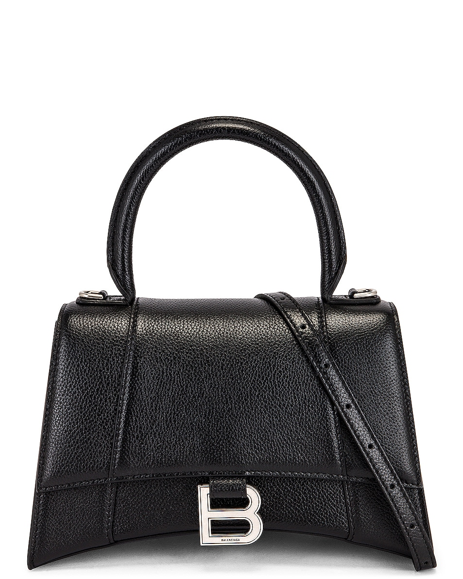 Image 1 of Balenciaga Small Hourglass Top Handle Bag in Black