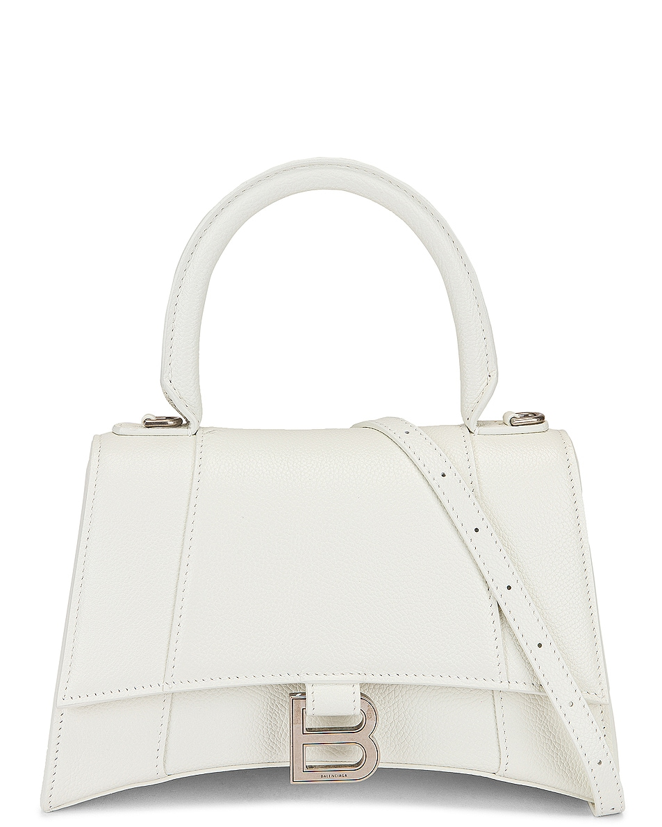 Image 1 of Balenciaga Small Hourglass Top Handle Bag in White