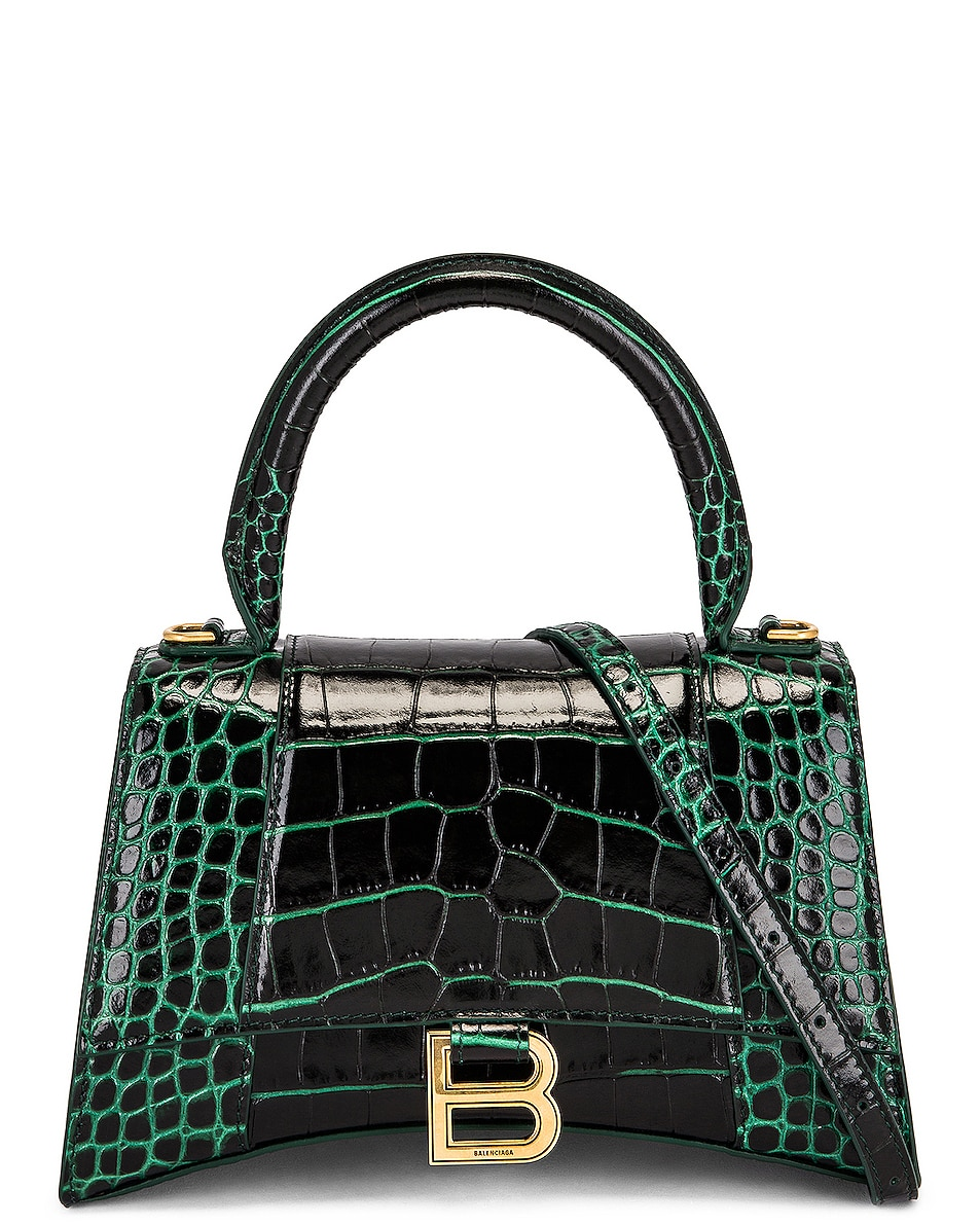 Image 1 of Balenciaga Small Hourlgass Top Handle Bag in Forest Green