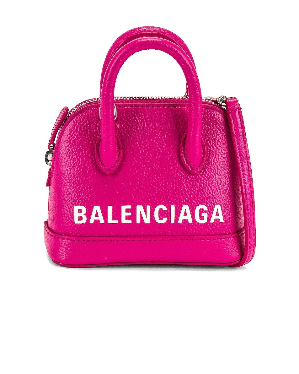 Image 1 of Balenciaga Vil.Top Hand Nano Aj in Fuchsia & L White