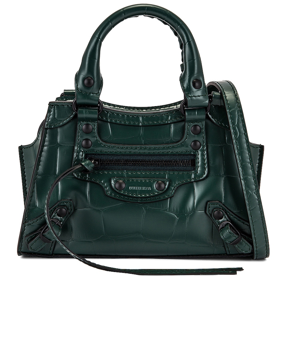 Image 1 of Balenciaga Nano Neo Classic Bag in Forest Green