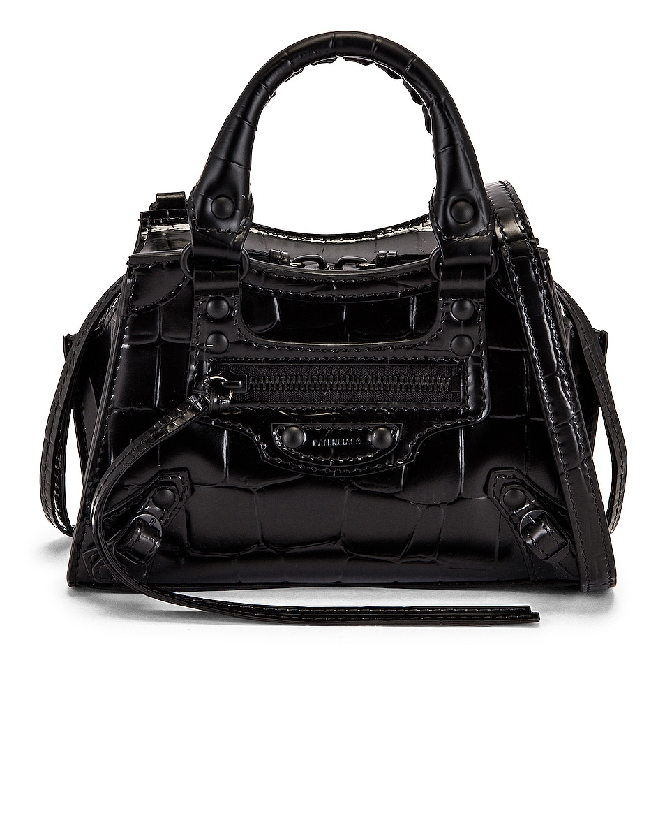 Image 1 of Balenciaga Nano Neo Classic Bag in Black