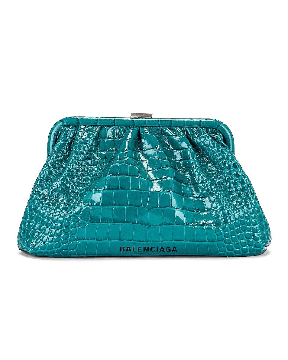 Image 1 of Balenciaga Cloud Crossbody Bag in Dark Turquoise