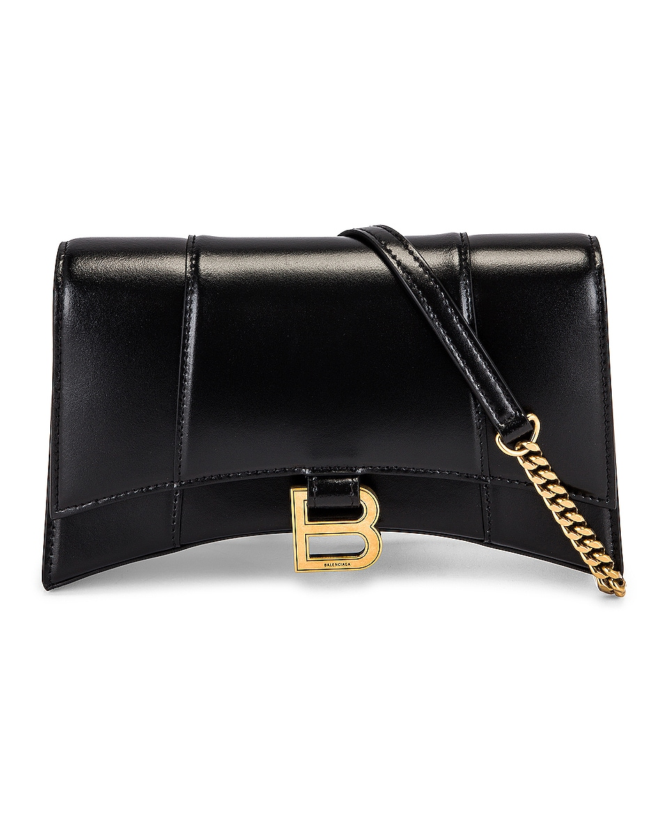 Image 1 of Balenciaga Hourglass Evening Chain Bag in Black