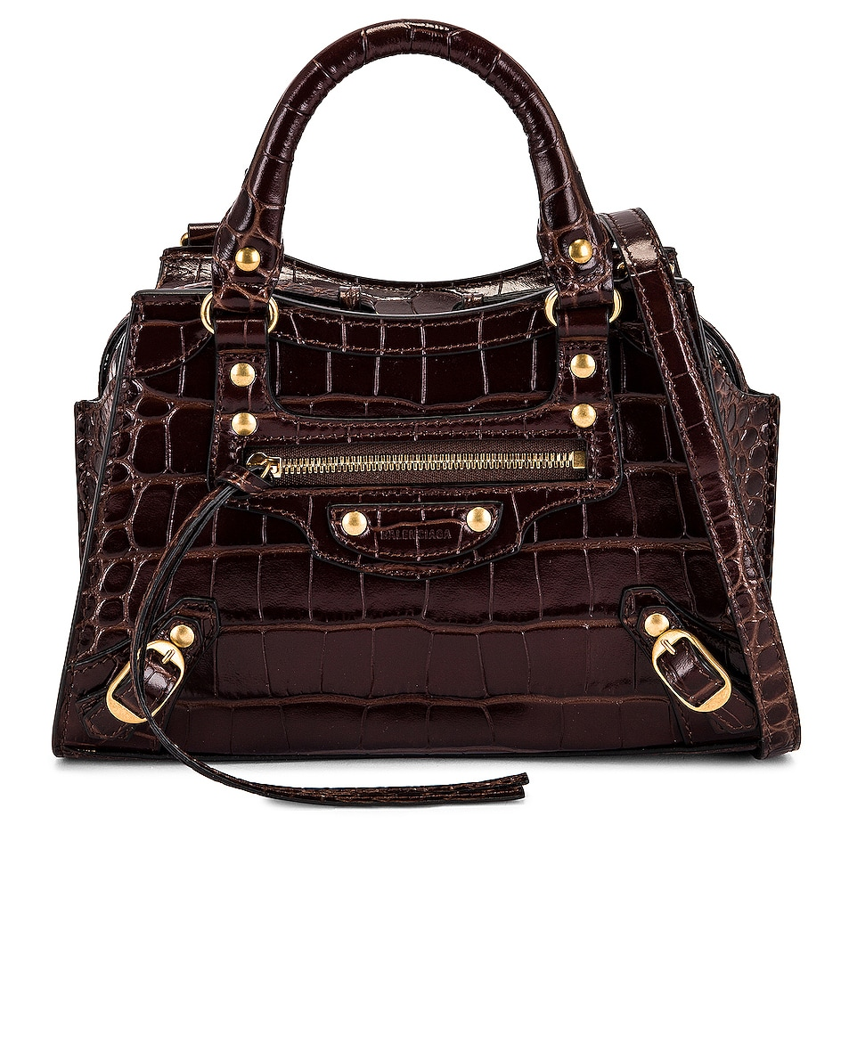 Image 1 of Balenciaga Mini Neo Classic City Bag in Dark Brown