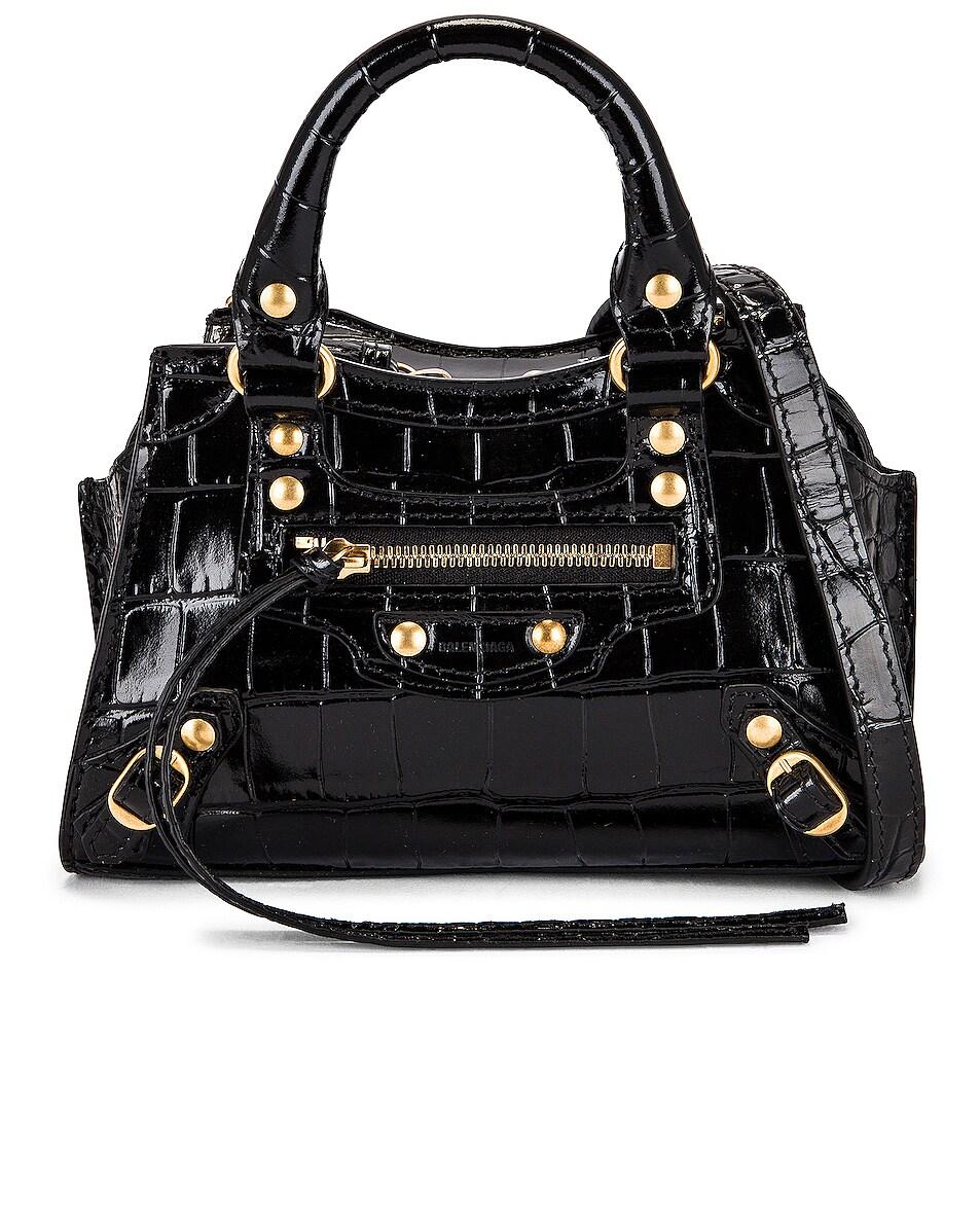 Image 1 of Balenciaga Nano Neo Classic City Bag in Black