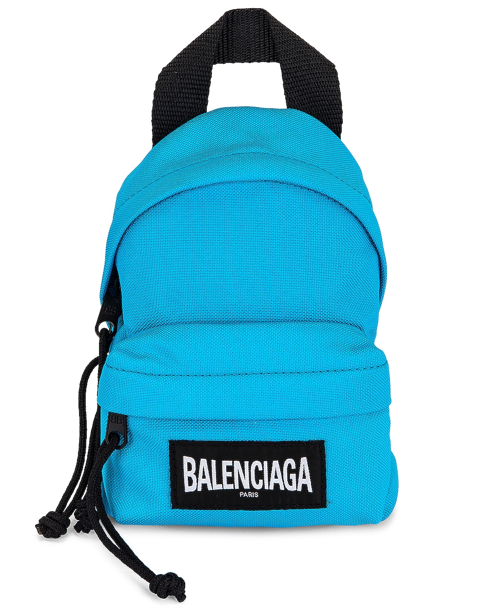 Image 1 of Balenciaga Mini Oversized Backpack in Cyclades Blue