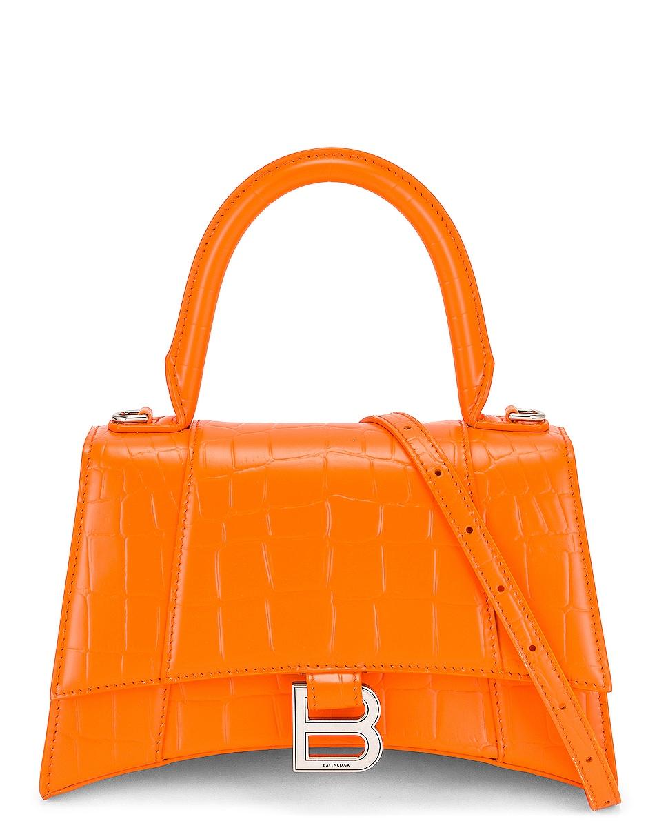Image 1 of Balenciaga Small Hourglass Top Handle Bag in Orange