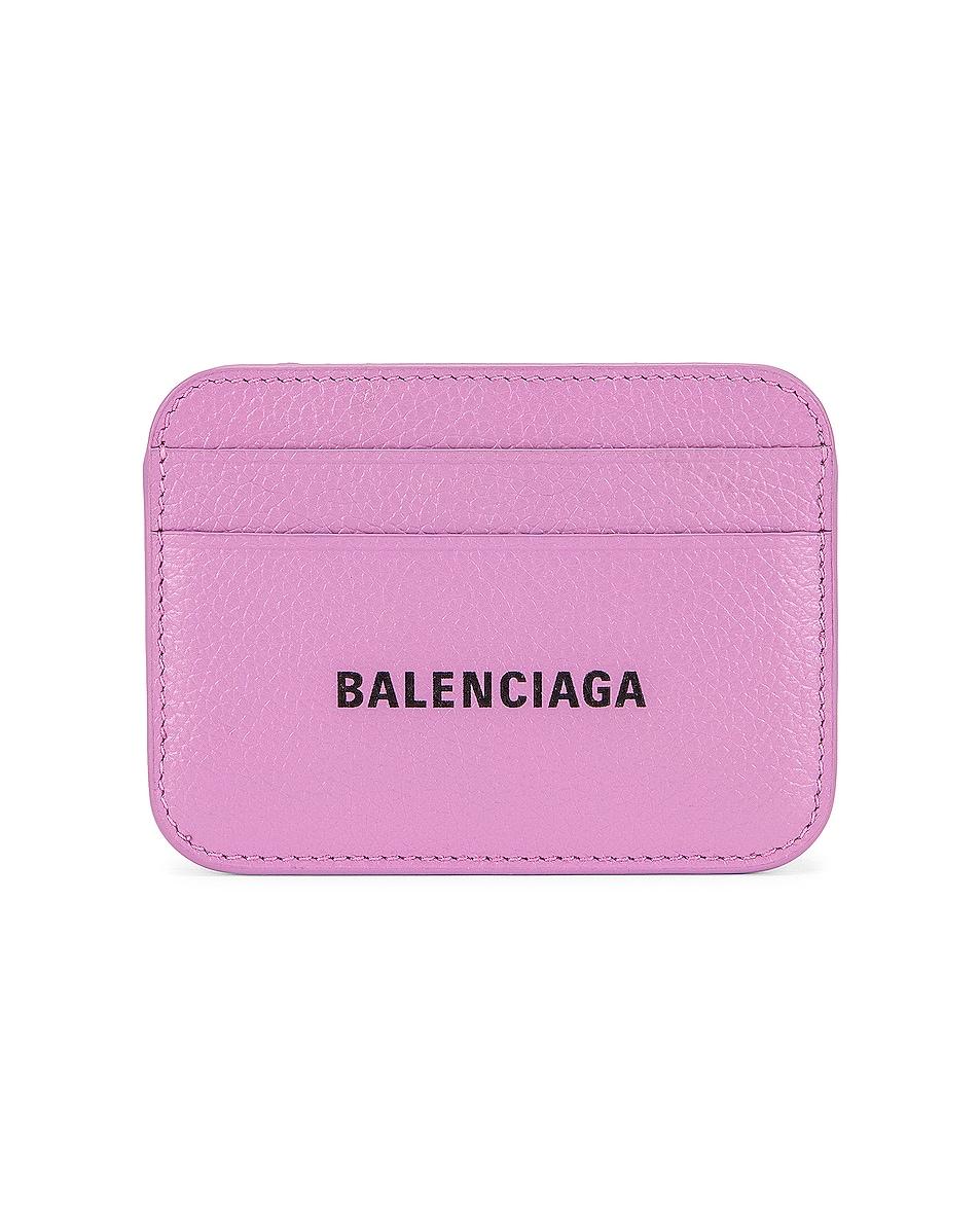 Image 1 of Balenciaga Cash Card Holder in Lilac & Black
