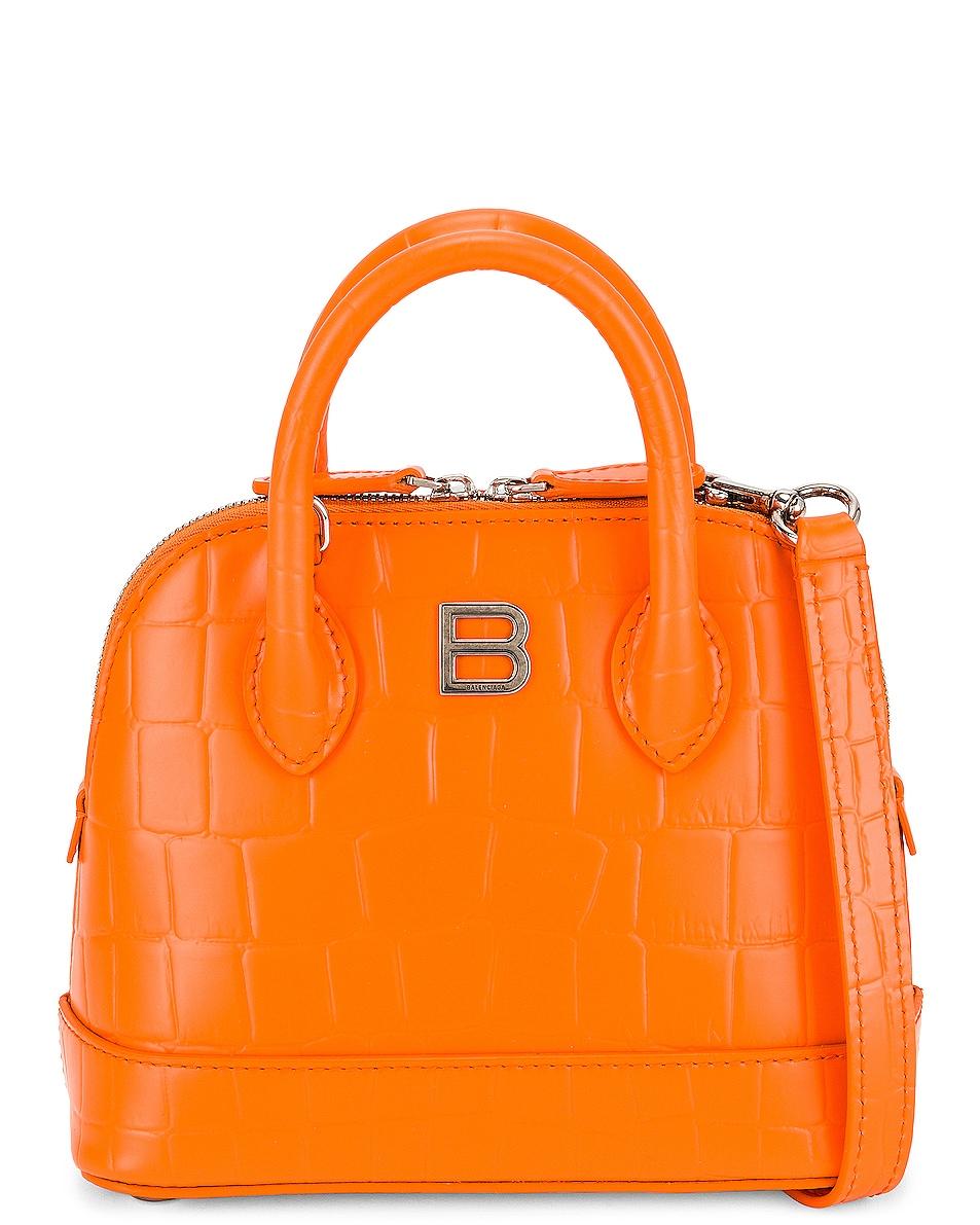 Image 1 of Balenciaga XXS Ville Rivet Top Handle Bag in Orange