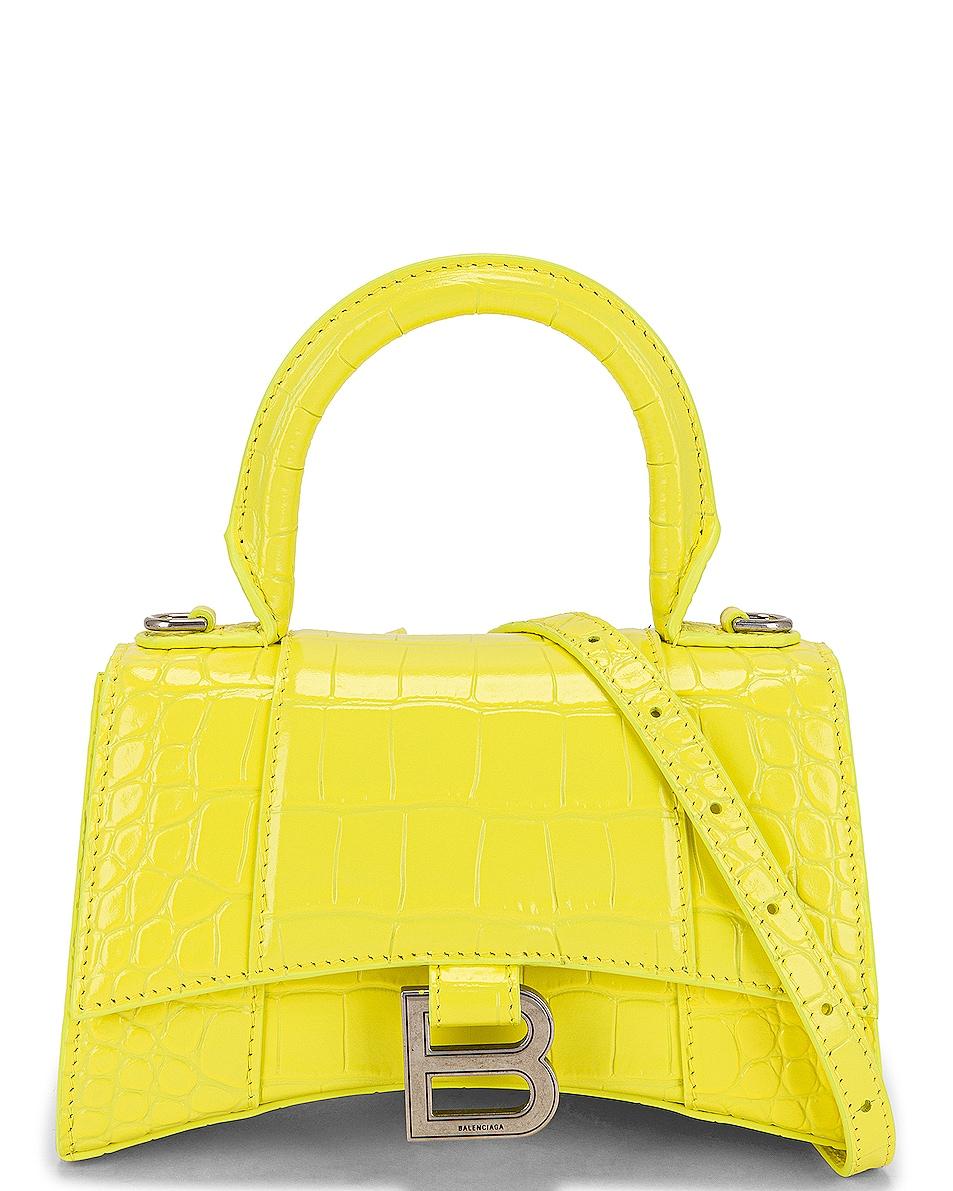Image 1 of Balenciaga XS Hourglass Top Handle Bag in Light Yellow