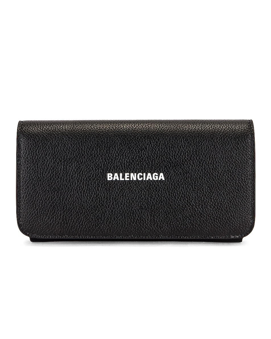 Image 1 of Balenciaga Cash Thin Money Holder in Black & White