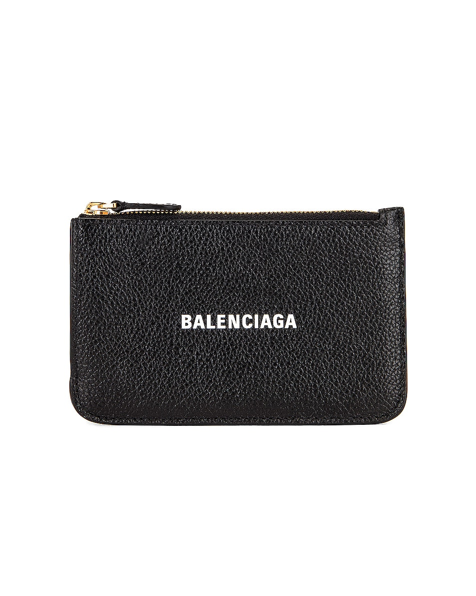 Image 1 of Balenciaga Cash Long Coin and Card Holder in Black & White