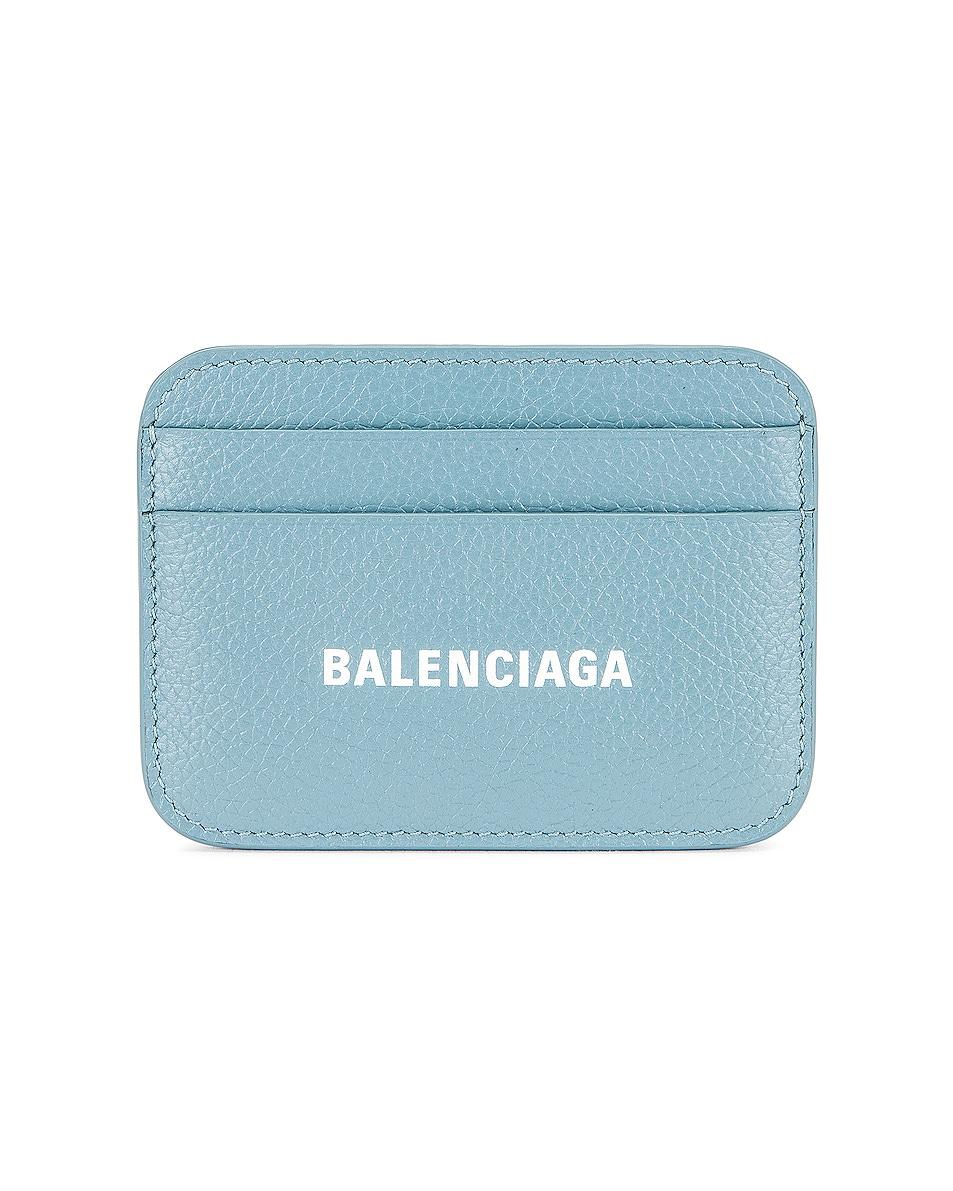 Image 1 of Balenciaga Cash Card Holder in Blue Grey & White