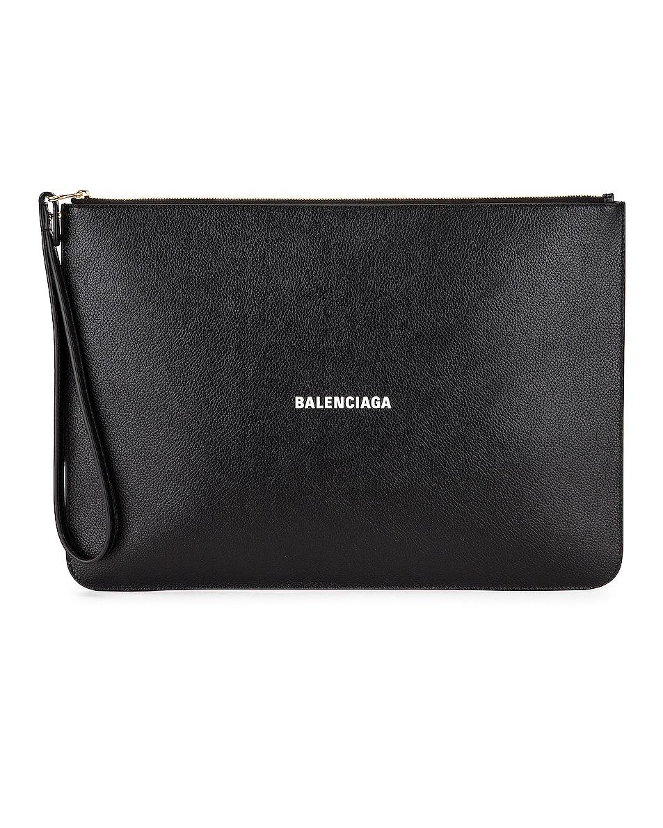 Image 1 of Balenciaga Cash Pouch in Black & White