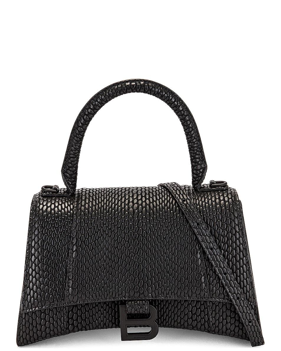 Image 1 of Balenciaga Small Hourglass Top Handle Bag in Black