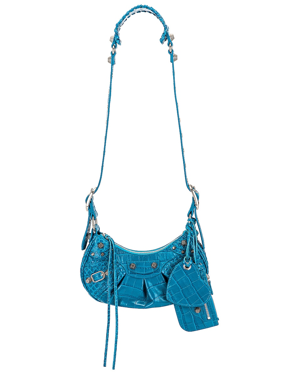 Image 1 of Balenciaga XS Le Cagole Shoulder Bag in Turquoise
