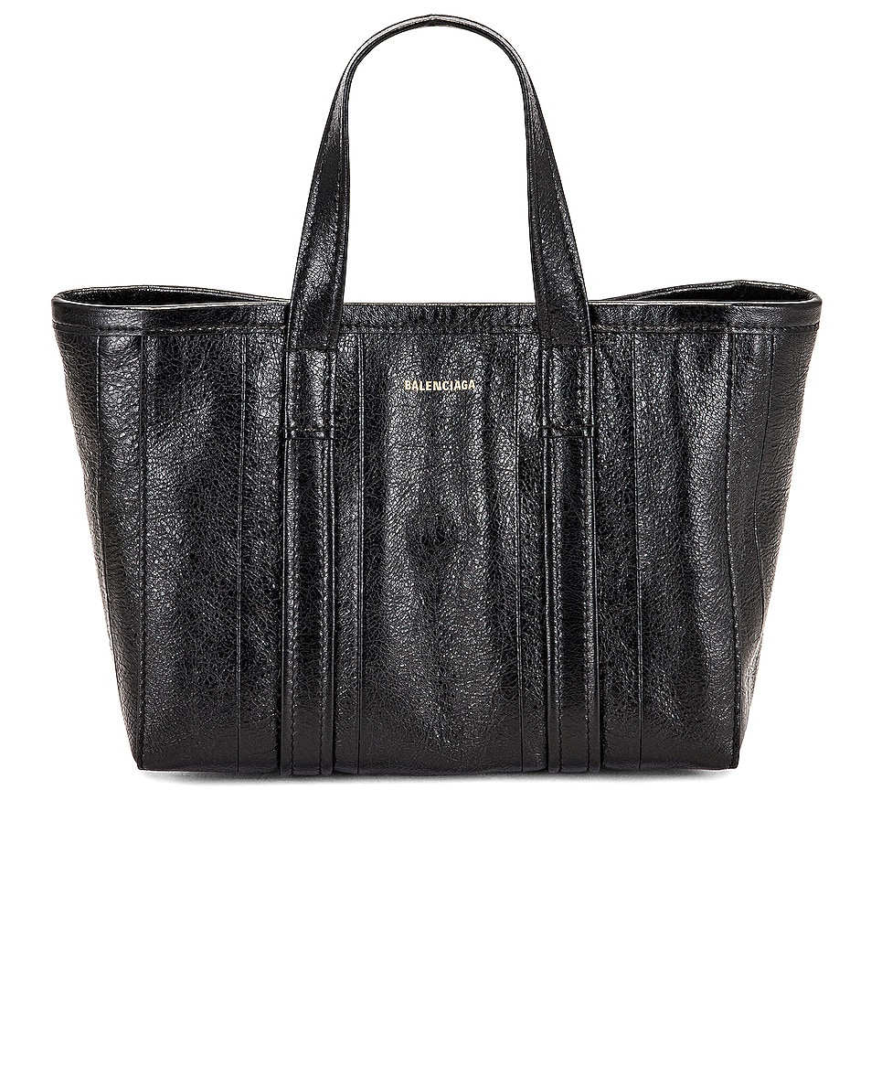 Image 1 of Balenciaga Small East West Barbes Tote Bag in Black