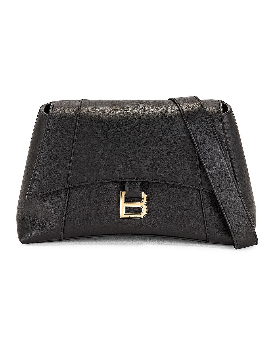 Image 1 of Balenciaga Small Soft Hourglass Shoulder Bag in Black