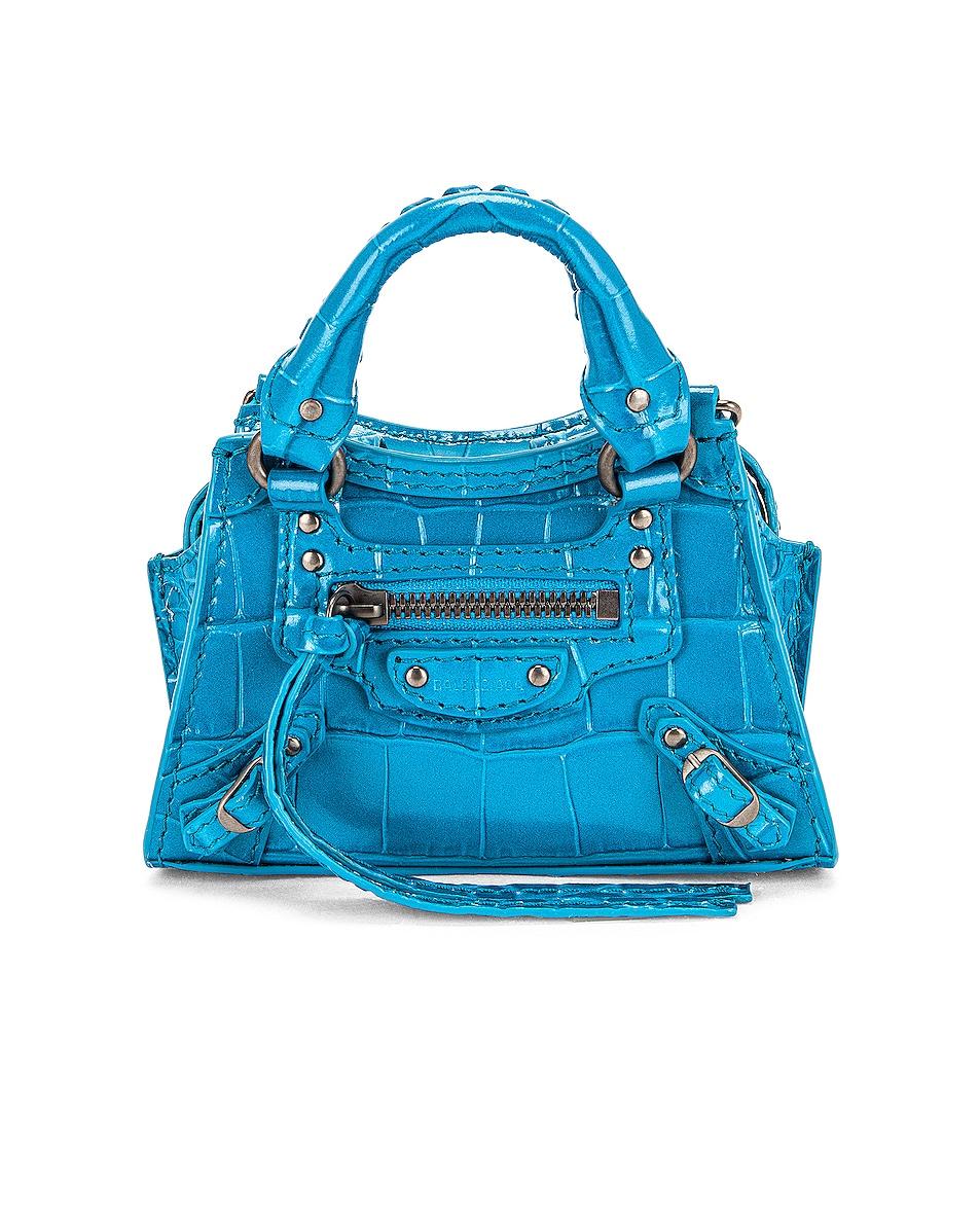 Image 1 of Balenciaga Super Nano Neo Classic City Bag in Turquoise