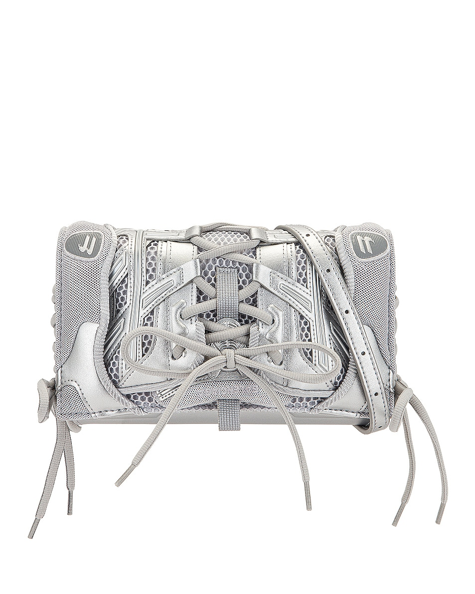 Image 1 of Balenciaga Sneaker Phone Holder with Strap Bag in Grey & Silver