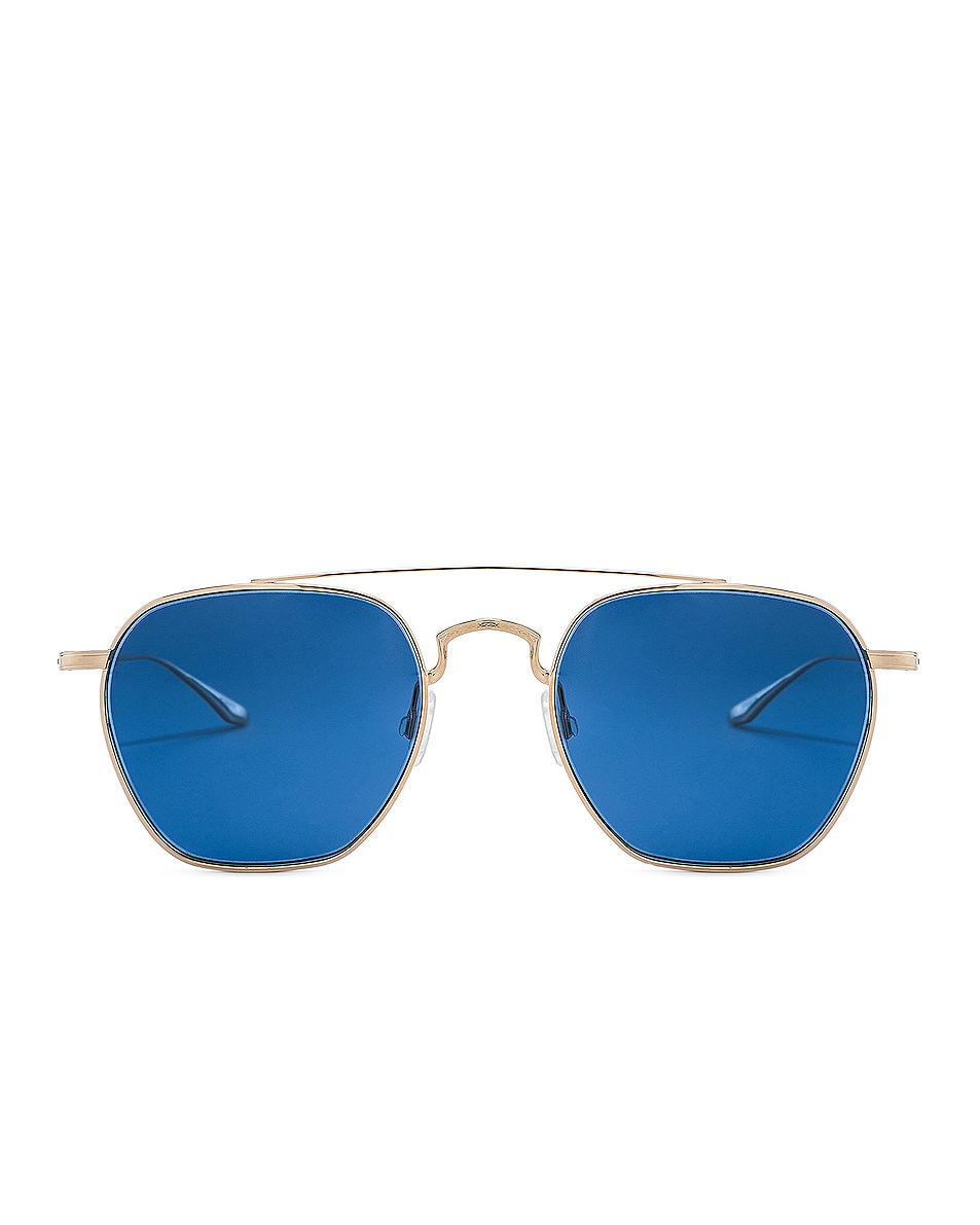 Image 1 of Barton Perreira Doyen Sunglasses in Gold & Navy Gradient