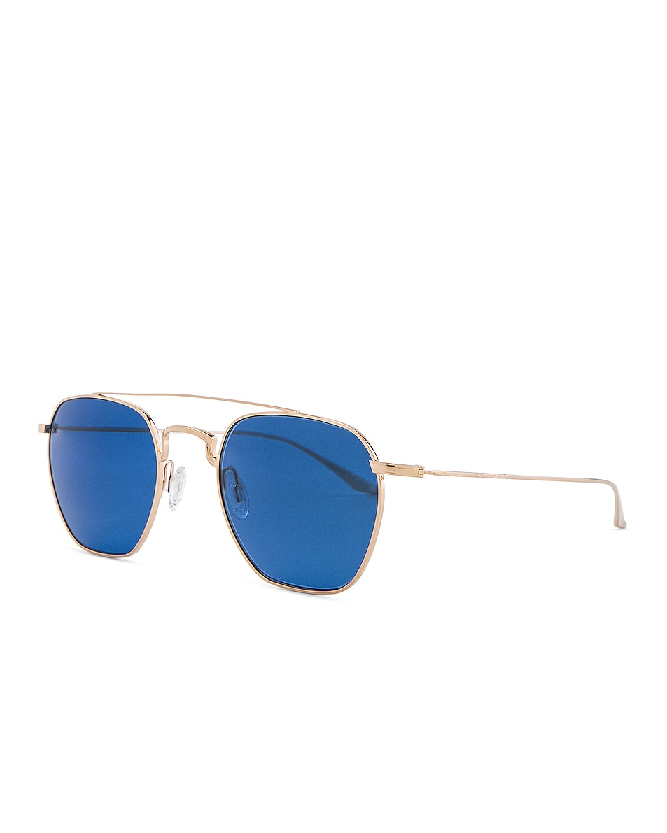 Image 2 of Barton Perreira Doyen Sunglasses in Gold & Navy Gradient