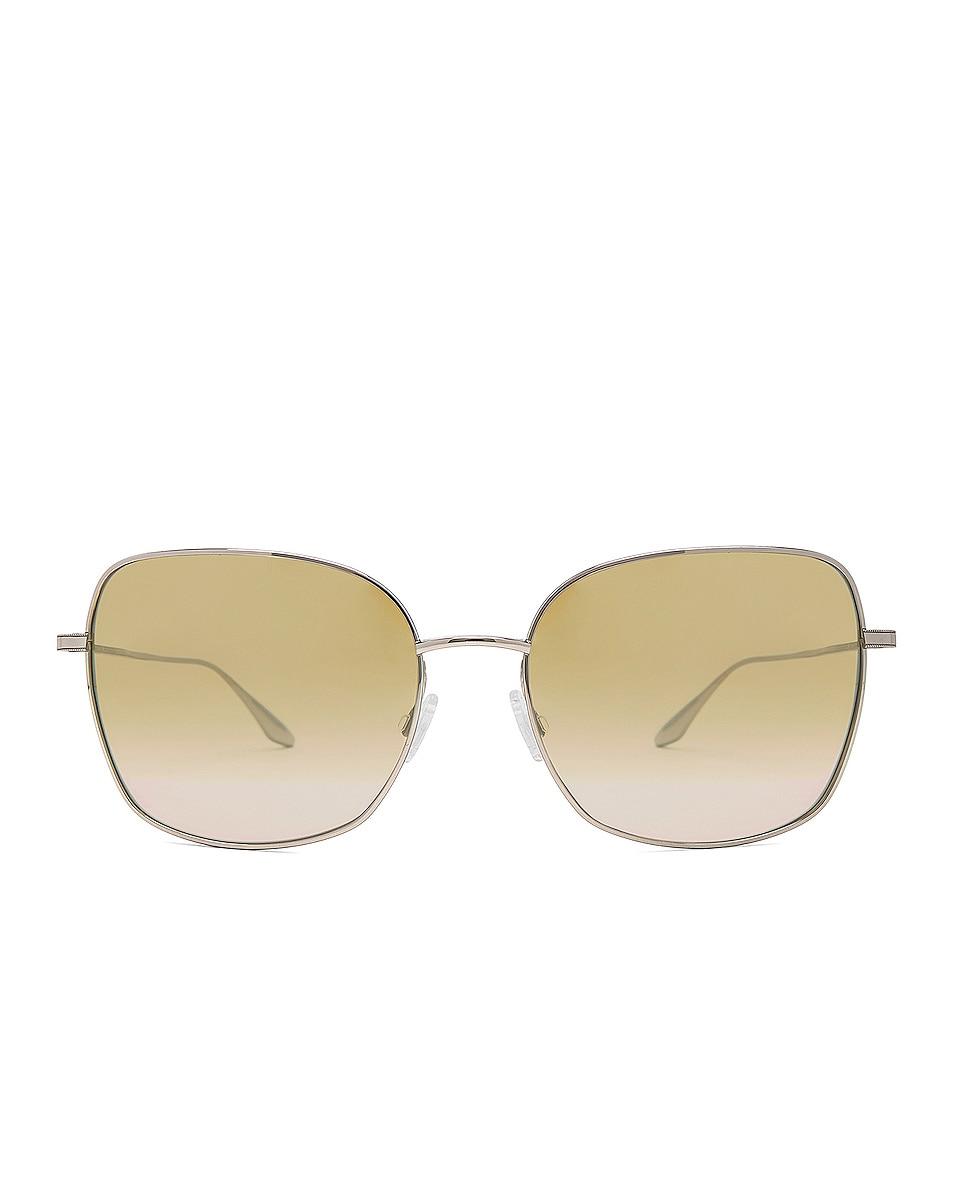 Image 1 of Barton Perreira Camille Sunglasses in Silver & Yellow Mirror
