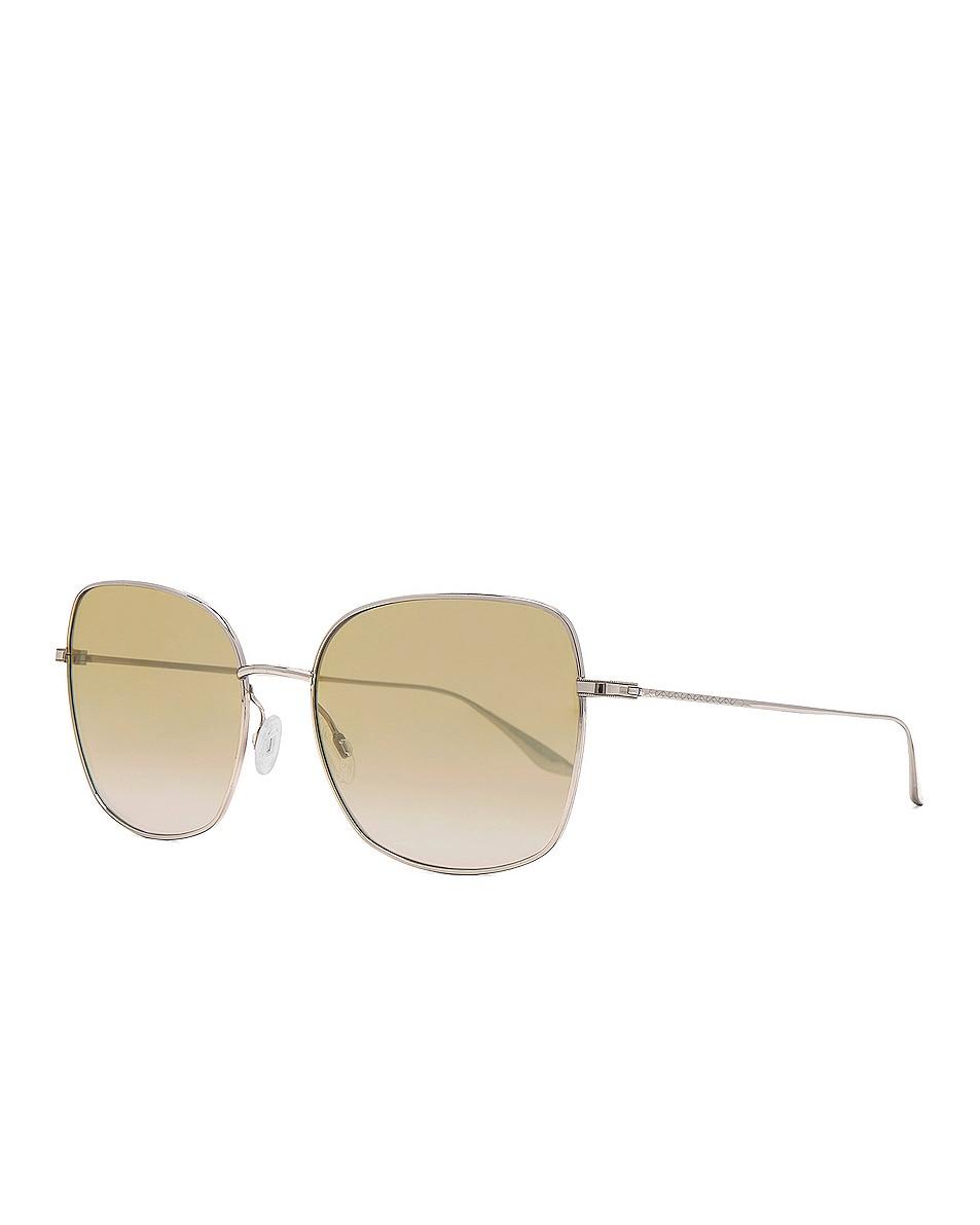 Image 2 of Barton Perreira Camille Sunglasses in Silver & Yellow Mirror