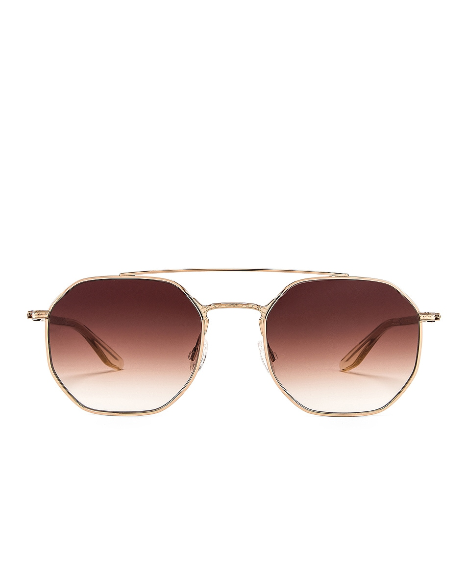 Image 1 of Barton Perreira Metis Sunglasses in Gold & Topaz