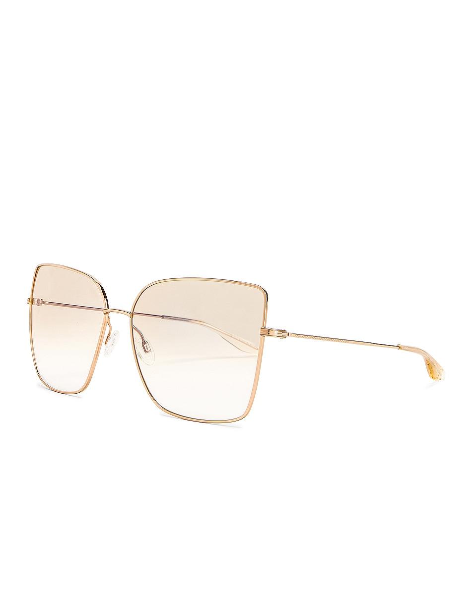 Image 2 of Barton Perreira Mystere Sunglasses in Gold & Yellow