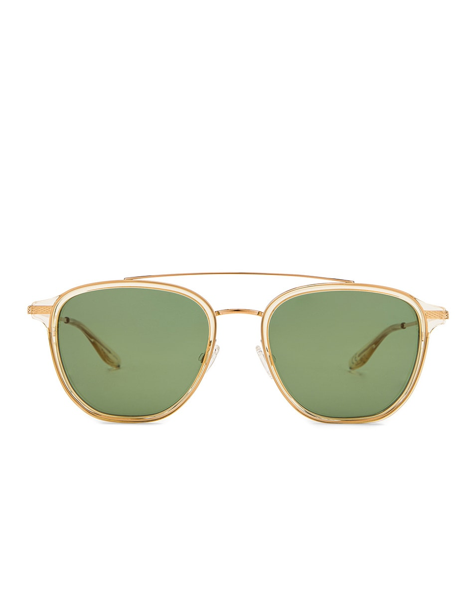 Image 1 of Barton Perreira Courtier Sunglasses in Champagne & Gold & Green