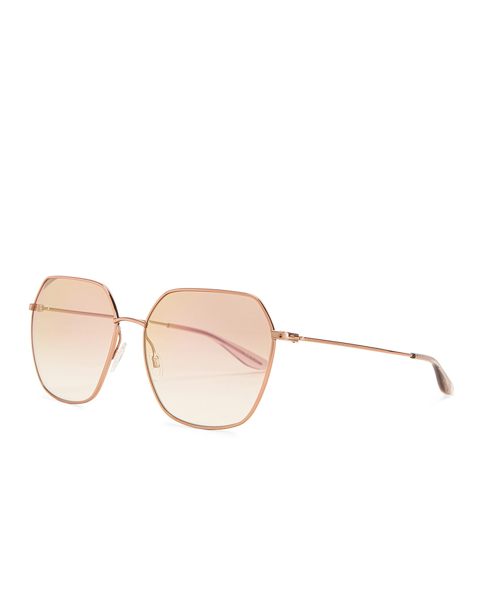 Image 2 of Barton Perreira Sotera Sunglasses in Rose Gold & Xanadu