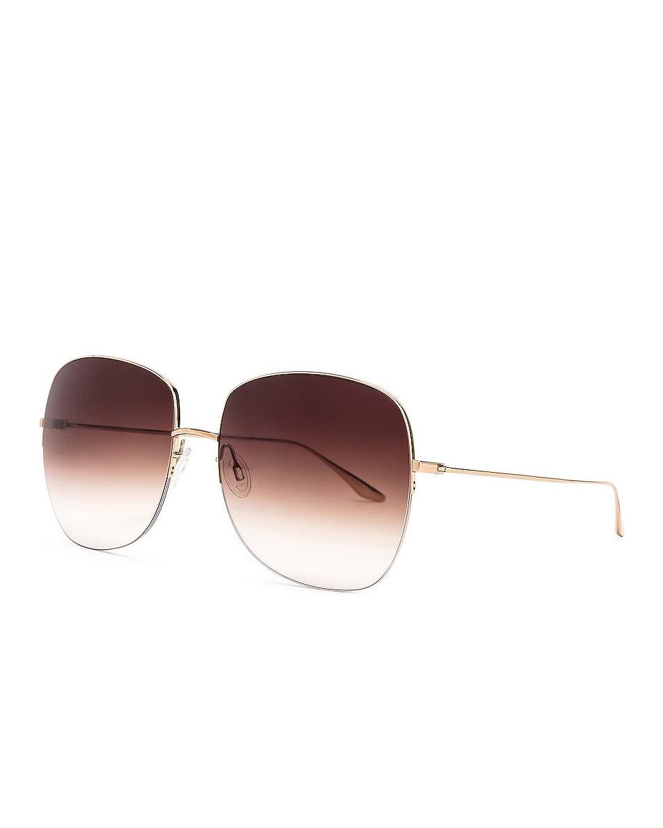 Image 2 of Barton Perreira Harmonia Sunglasses in Gold & Smokey Topaz