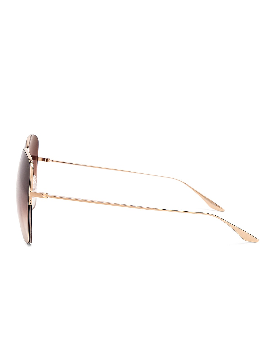 Image 3 of Barton Perreira Harmonia Sunglasses in Gold & Smokey Topaz