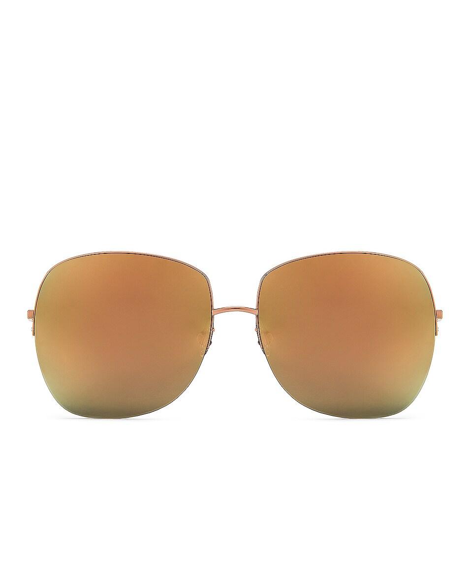Image 1 of Barton Perreira Harmonia Sunglasses in Rose Gold & Cherry Moon Mirror