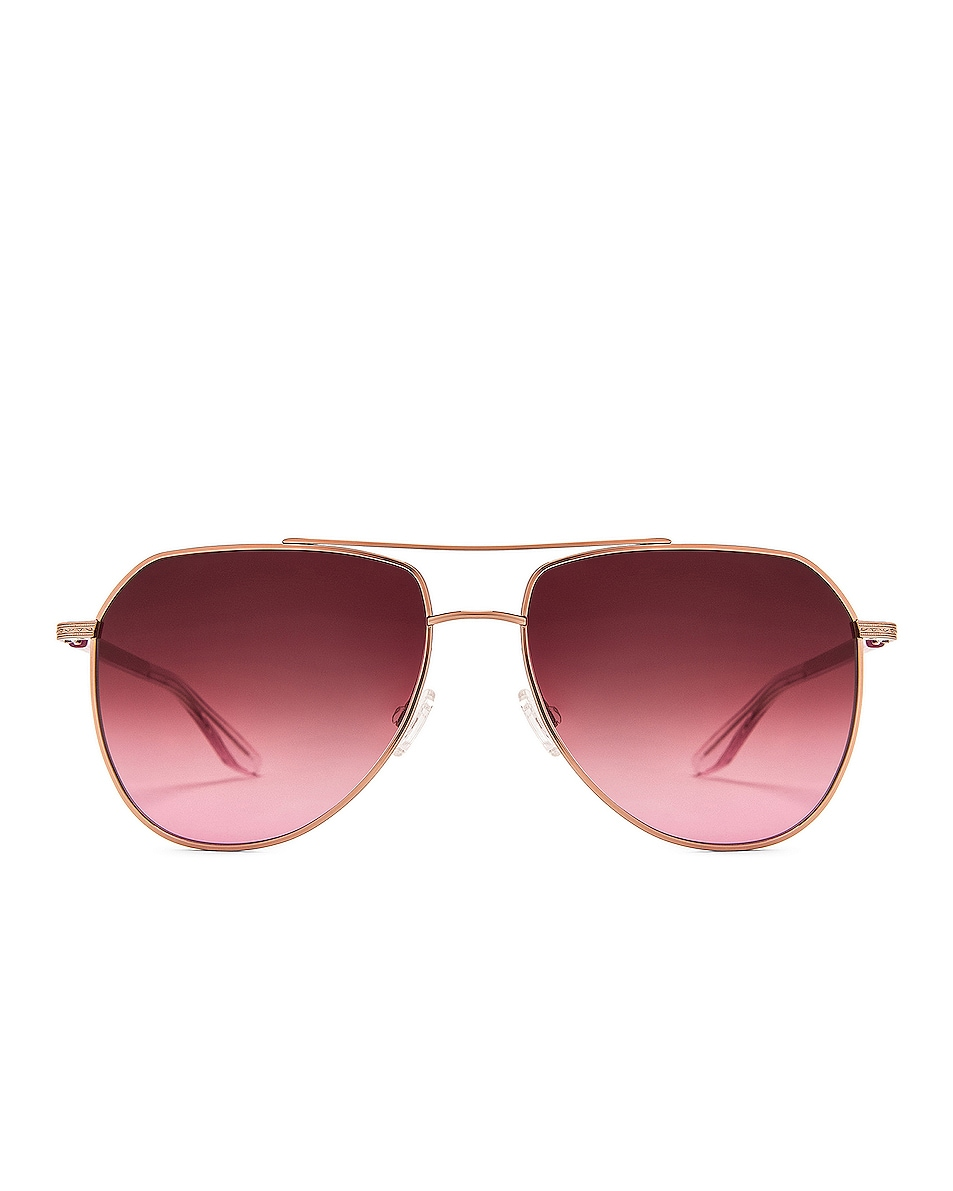 Image 1 of Barton Perreira Voltaire Sunglasses in Rose Gold & Desert Lilac