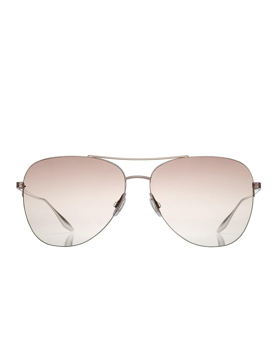 Image 1 of Barton Perreira Chevalier Sunglasses in Rose Gold & Xanadu