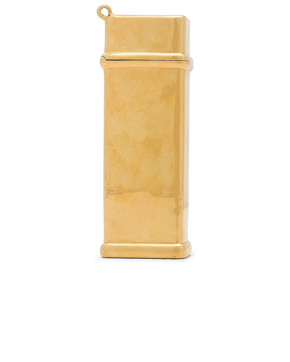 Image 3 of Brandon Maxwell Brass Lighter Case in Gold