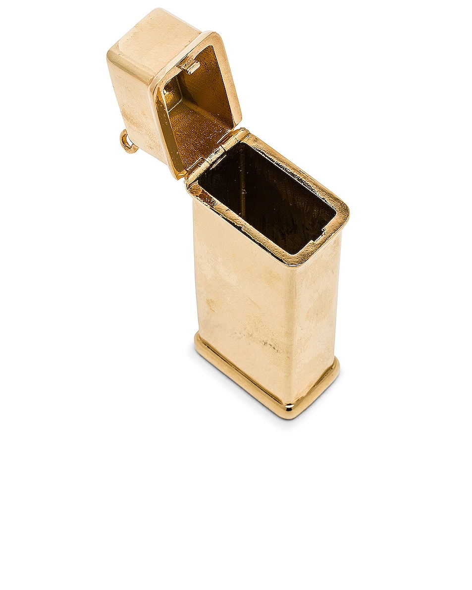 Image 5 of Brandon Maxwell Brass Lighter Case in Gold
