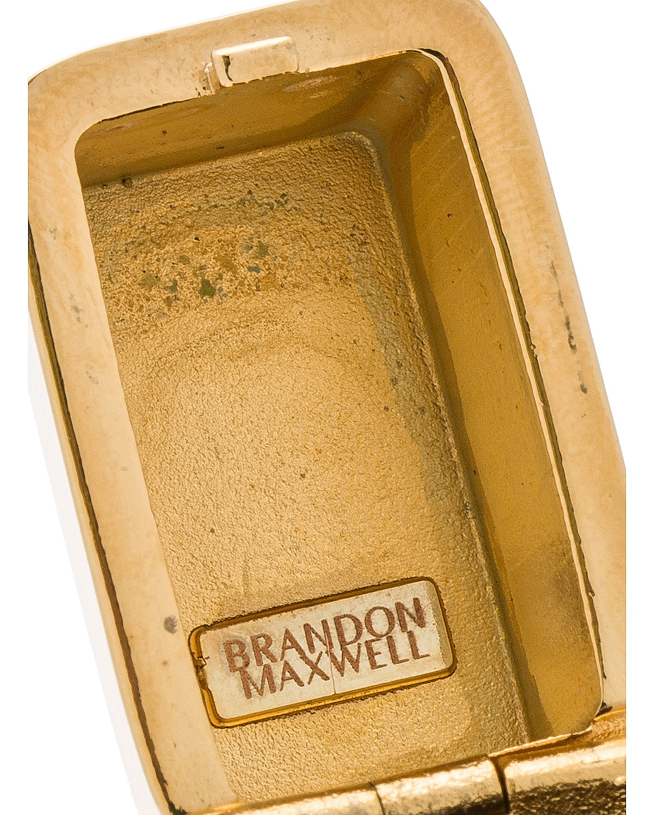 Image 7 of Brandon Maxwell Brass Lighter Case in Gold